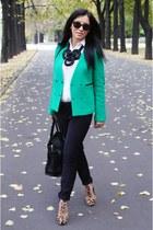 SANDRO blazer - Zara pants - brian atwood heels