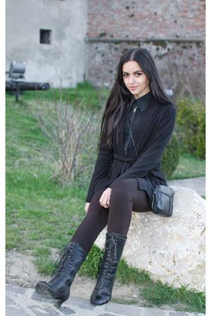 black cotton Nuna lie passion blazer