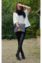 Zara pants - bionda castagna boots - By Malene Birger sweater - Suncoo bag