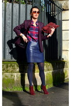 crimson arfango boots - crimson The Kooples blazer - blue new look shirt
