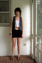Victorias Secret top - Urban Outfitters vest - Urban Outfitters shorts - vintage