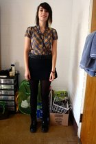 Anthropologie shirt - H&M belt - Nordstrom skirt - Anthropologiegie tights - vin