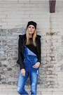 Black-swan-jacket-denim-overalls-wasteland-jumper