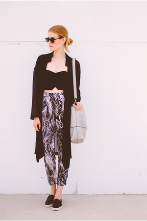 cropped Topshop top - Lush top - sam edelman shoes - Streetlevel Bags bag