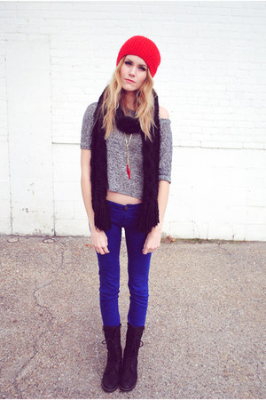 crop top Lush shirt - batell Steve Madden boots - BDG pants