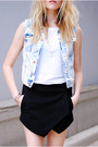 Denim-h-m-vest-report-sandals-skort-sheinside-skirt