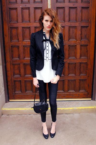 tuxedo H&M top - H&M blazer - BCBG pumps