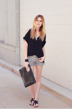 cut out top Lush top - Cheap Monday bag - RD style shorts