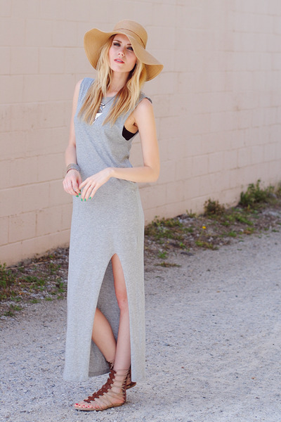 Urban Outfitters hat - H&M dress - mia shoes sandals