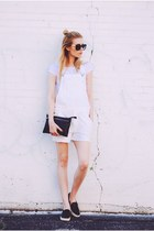 American Eagle shorts - leather Streetlevel Bags bag - sam edelman flats