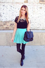 Steve-madden-boots-lace-forever-21-top-pleated-skirt-shop-sosie-skirt