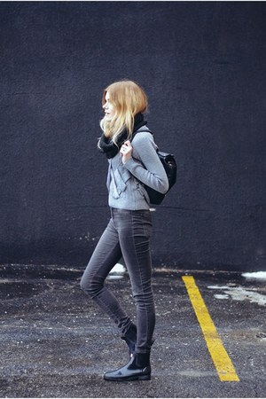 Sheinside sweater - Hunter boots - 2nd One pants