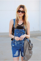 denim dungarees asos romper - Sugarlips top