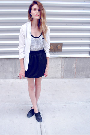 mia shoes shoes - H&M blazer - Forever 21 top - American Apparel skirt
