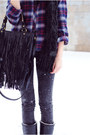 Flannel-urban-outfitters-top-tretorn-boots-acid-wash-zara-leggings