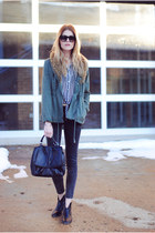 Steve Madden boots - fur military Urban Outfitters jacket