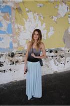 b jewel top - thrifted vintage bag - Nordstrom skirt