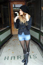 rain boots Tretorn boots - H&M jacket - high-waisted Zara shorts
