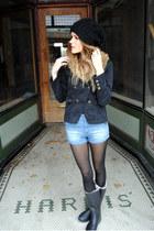 rain boots Tretorn boots - H&M jacket - high-waisted Zara shorts