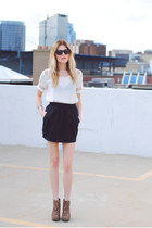 mesh Sheinside shirt - American Apparel skirt - leopard BCBGeneration wedges