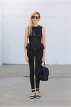 shopsosie top - Zara jeans - Steve Madden sandals