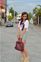 Forever 21 bracelet - heather gray Penshoppe shorts - white charlie sunglasses