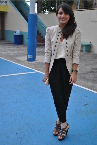 Zara blazer - Urban Outfitters pants - Forever 21 blouse - Cole Haan purse - Nin