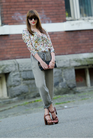 Zara blouse - Henri Bendel purse - Elizabeth &amp; James sunglasses