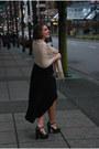 Black-cotton-dress-clogs