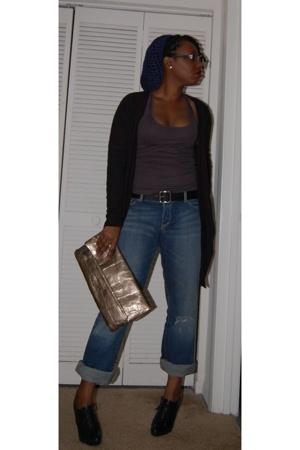 Jessica Simpson shoes - Express jeans - Express shirt - Express sweater - purse