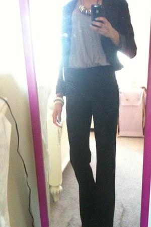 H&M blazer - H&M accessories - Old Navy blouse