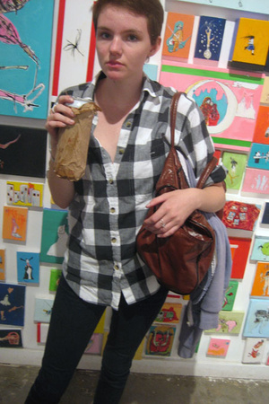 flannel shirt - Cheap Monday jeans - Wilson purse