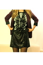 Purple-silence-noise-blazer-black-rodarte-x-target-dress-nine-west-shorts-