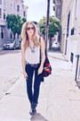Black-harley-davidson-boots-black-jbrand-jeans-red-from-chic-swap-blazer-w