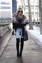 black vintage jacket - black Jeffrey Campbell boots