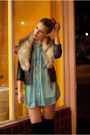 Black-silence-noise-jacket-turquoise-blue-american-apparel-blouse-black-cr