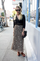 burnt orange leopard maxi Forever 21 skirt