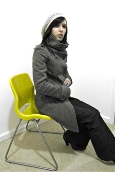 H&M coat - pants - Steve Madden boots - Express shirt