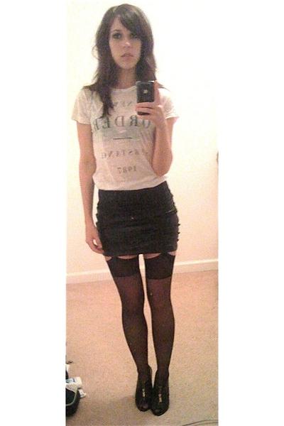 black Victorias Secret stockings - black Michael Kors shoes