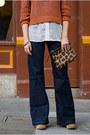 Navy-custom-indi-custom-jeans-brown-vintage-hat-burnt-orange-h-m-sweater