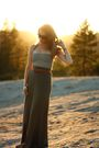 Green-h-m-skirt-white-american-apparel-top-brown-thrift-belt-brown-volcom-