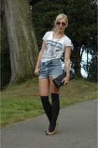 t-shirt - Levis shorts - H&M socks - Oh Deer shoes - accessories