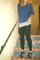 aa shirt - top - aa leggings - Guess shoes - accessories