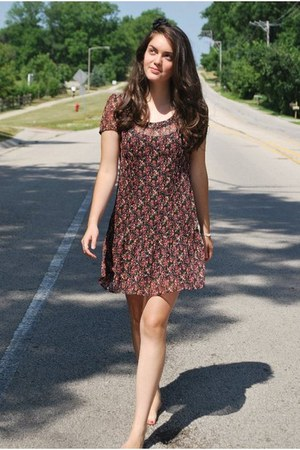 brick red Urban Outfitters dress