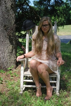 lace Forever 21 dress - square plastic Claires glasses