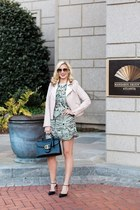 Rebecca Minkoff jacket - bcbg max azria dress - Christian Louboutin pumps