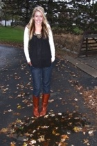 forever 21 top - True Religion jeans - vintage via my lovely mother boots