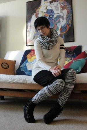 Aldo shoes - American Apparel scarf