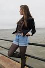 H-m-blazer-forever-21-blouse-vintage-ralph-lauren-shorts-forever-21-tights
