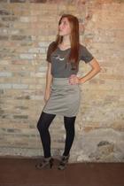 Goodwill shirt - H&M skirt - Forever 21 shoes